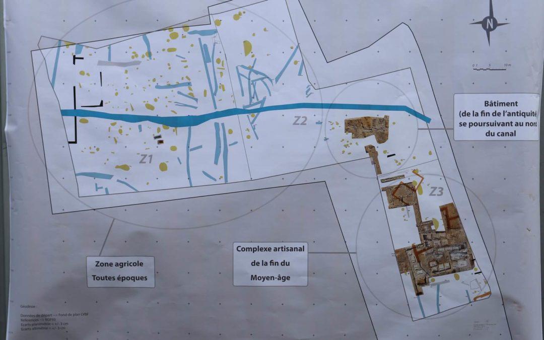 Les fouilles de la rue des Climènes, organisées par l'INRA