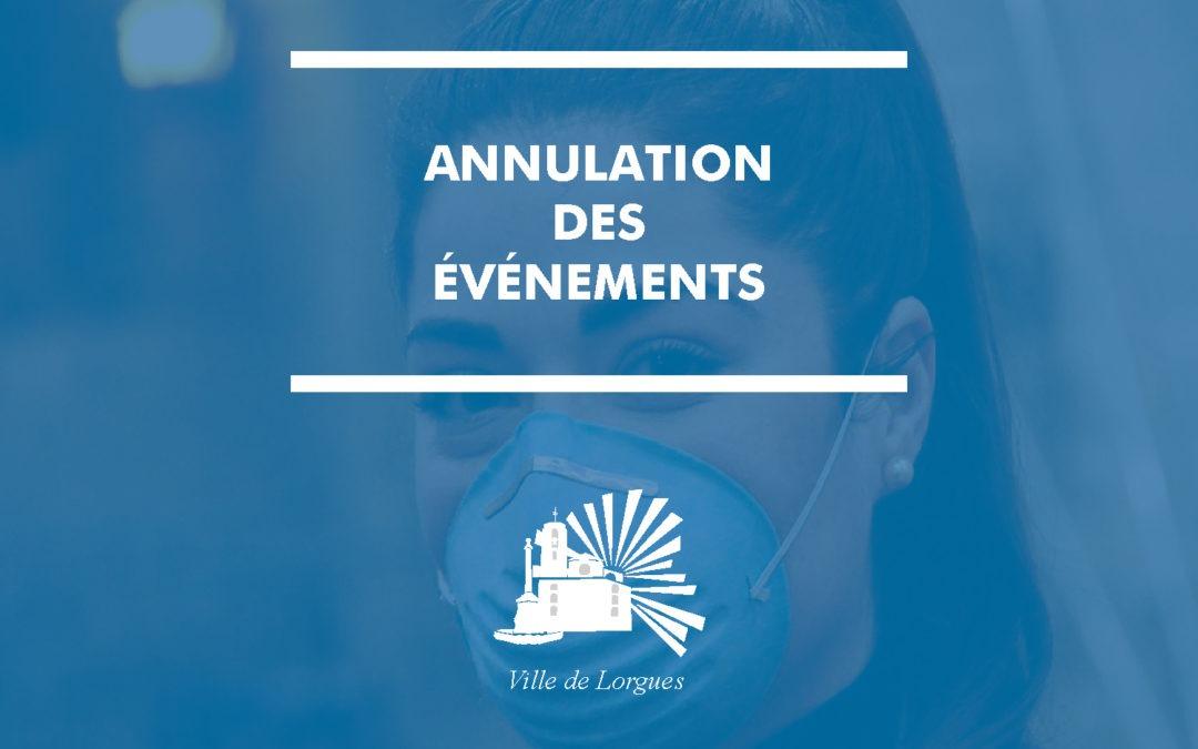 Annulation / report d'événements et festivités