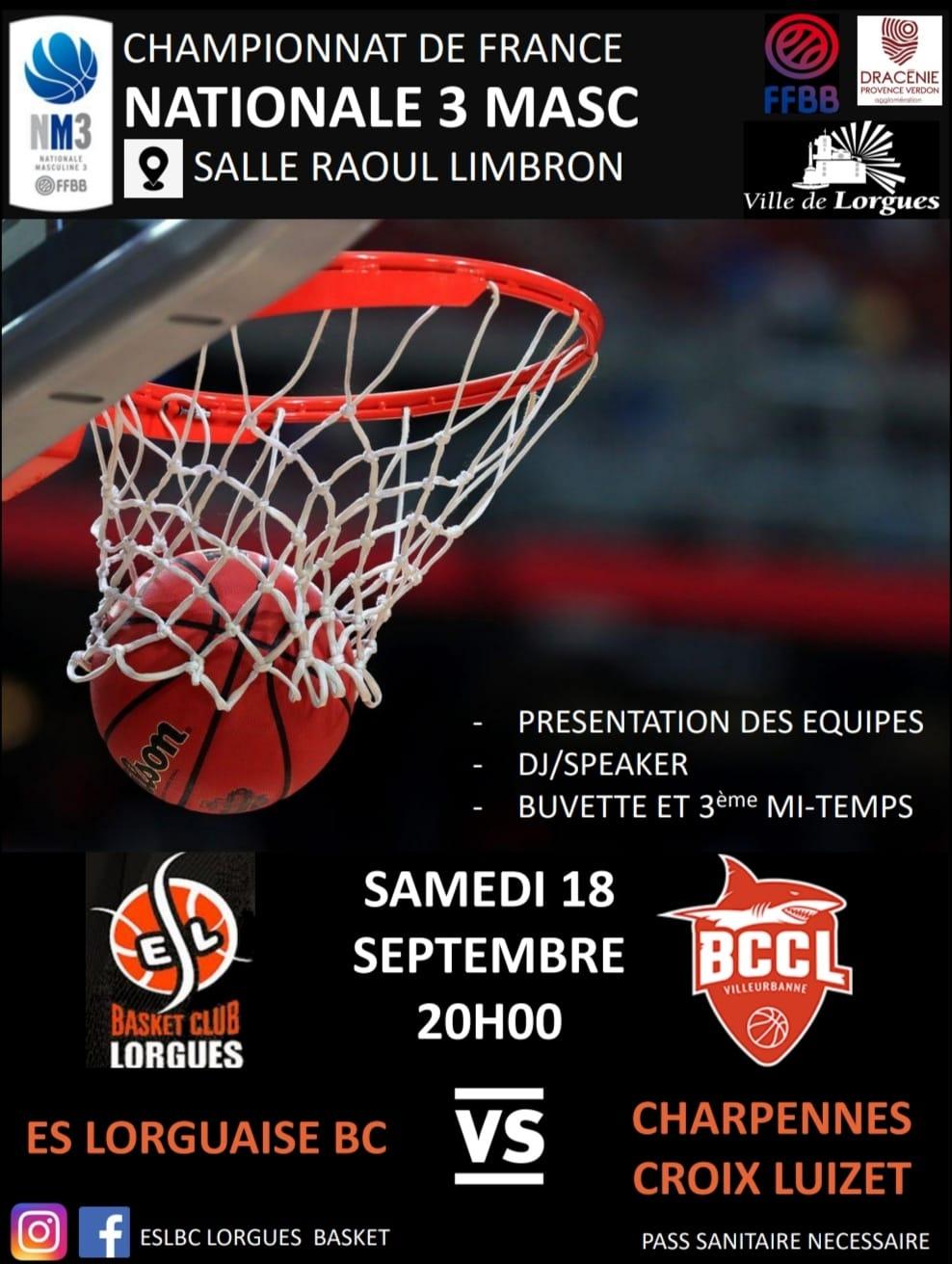 Championnat Basket Lorgues Villeurbanne 2021