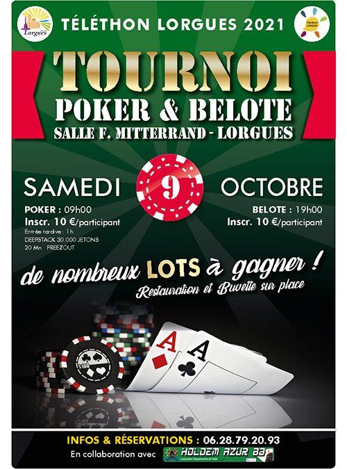 Tournoi de Poker & Belote – Lorgues
